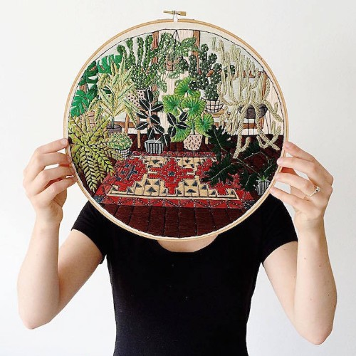 Illustrator Creates Exquisitely Embroidered Scenes That Look Like Detailed Drawings