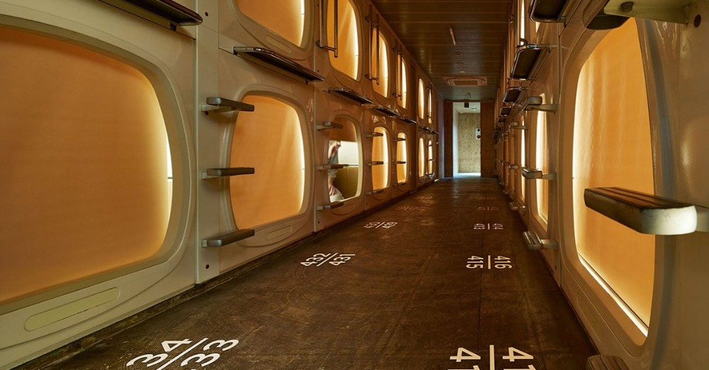 Retro Capsule Hotel in Tokyo Transformed Into Tranquil Oasis