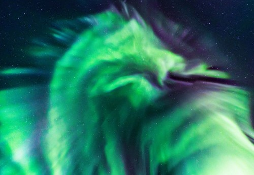 Spectacular Photo of the Northern Lights Looks Like a Dragon in the Sky