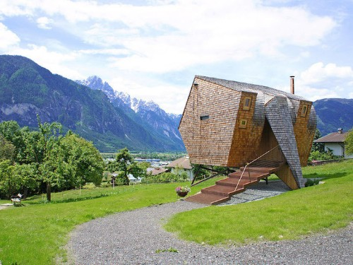 Compact Home Designed for Breathtaking Views of the Alps