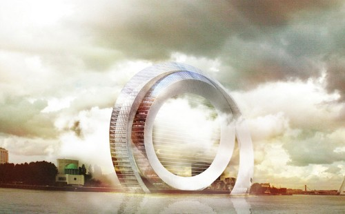 Futuristic Wind Turbine Doubles as Modern Apartments