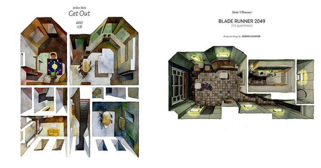 Illustrated Floor Plans Feature Architecture and Set Design of Beloved Films