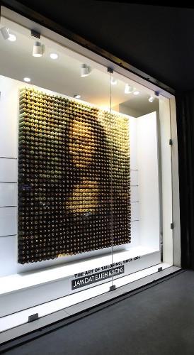 2,156 Spools of Thread Form a Modern Mona Lisa
