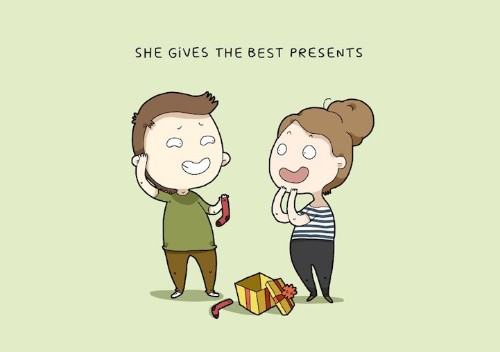 Quirky Illustrations Reveal Why Couples Truly Love Their Partners
