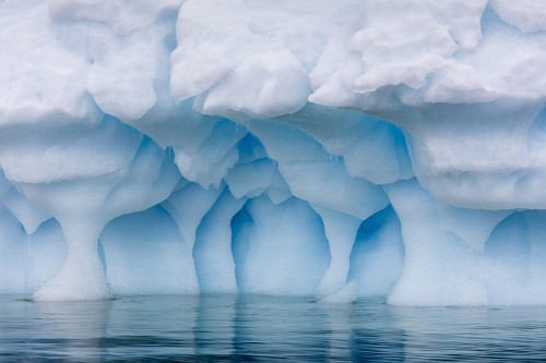 Transcendent Photos of Antarctica's Cavernous Blue Ice Glaciers