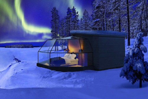 You Can Spend the Night in Luxury Glass Igloos Looking Up at the Northern Lights