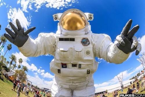 The Enormous Astronaut Sculpture at Coachella