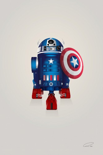 New in the Shop: R2-D2 Mashed Up with Superheroes by Steve Berrington