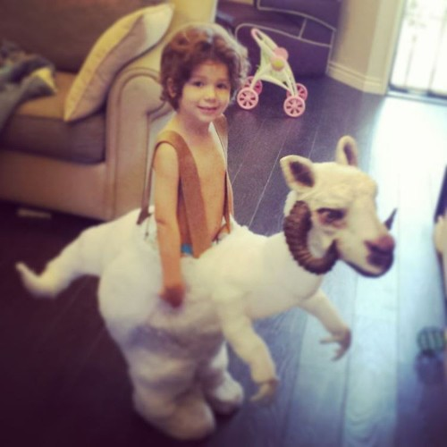 Father Creates Custom Tauntaun for His Son's Star Wars Inspired Costume