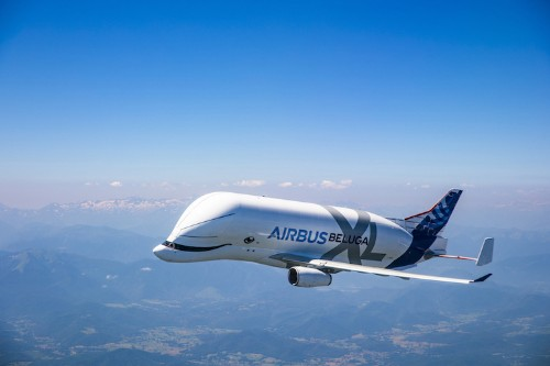 """""""Whale in the Sky"""" Beluga-Shaped Airbus Completes Its First Flight"""