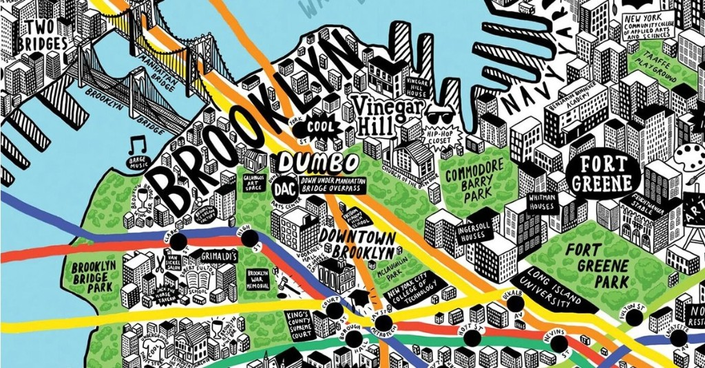 Illustrator Creates Colorful Hand-Drawn Maps Filled With Playful Details