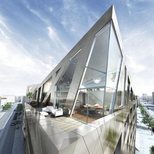 Berlin's New Angular Building is Sleek and Metallic