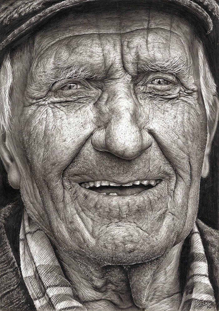16-Year-Old's Amazingly Hyperrealistic Graphite Portrait Wins Top Prize