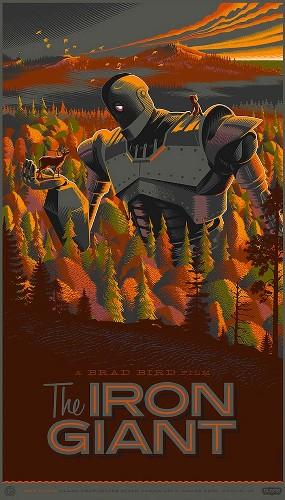 Unique Movie Posters Designed in Retro-Futuristic Style