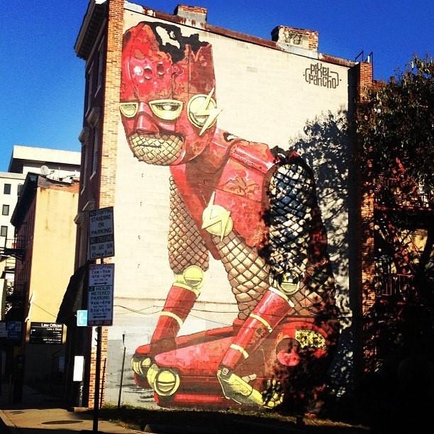 Whimsical Robot Street Art by Pixel Pancho
