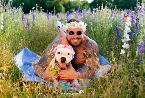 """Comical """"Dad Bods and Dogs"""" Calendar Helps Support Rescue Dogs"""