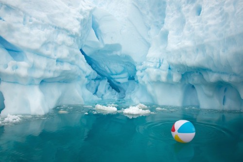 Chilling Photos of Antarctica Juxtaposed with Warm Weather Objects