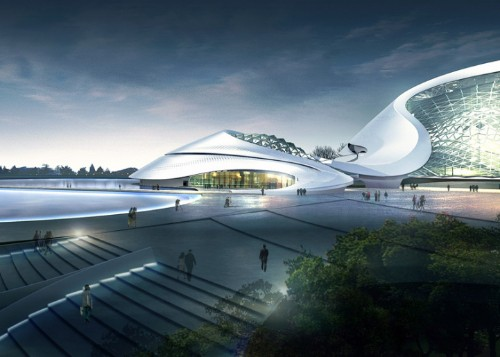 China's Enormous Cultural Center Blends into Its Landscape