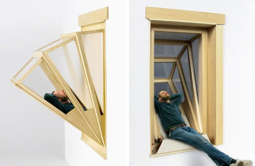 """Innovative """"More Sky"""" Windows Transform into Outdoor Seating for Small Apartments"""