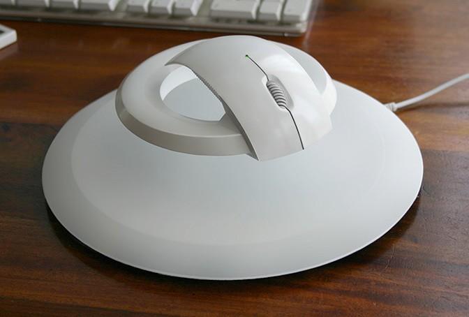 Futuristic Levitating Wireless Mouse Prevents Carpal Tunnel