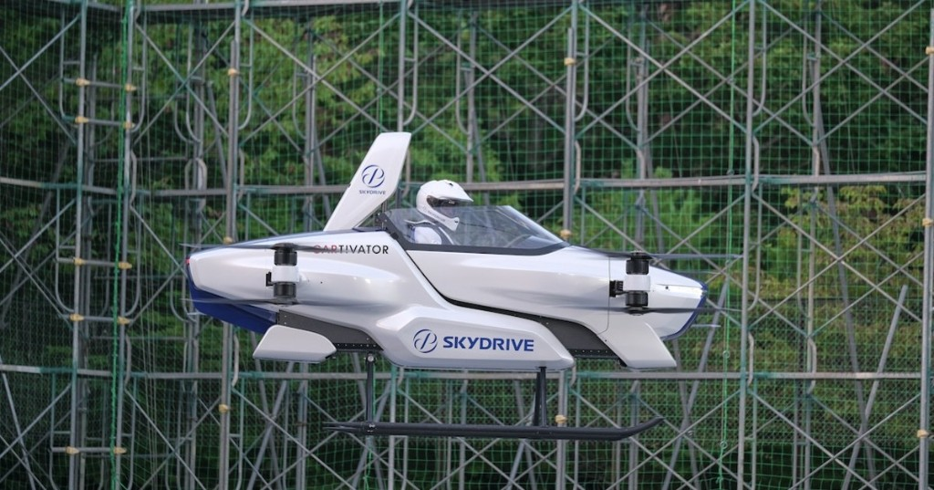 Japan's 'Flying Car' Takes First Piloted Test Flight Off the Ground