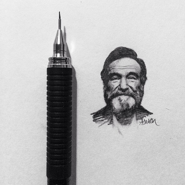 Intricately Detailed Tiny Celebrity Portraits Made with Superfine-Tipped Pencils