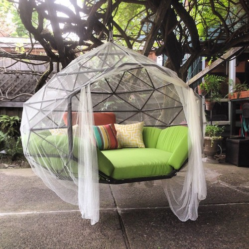 Outdoor Geometric Structure is the World's First Hanging Zome