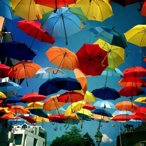 More Magical Photos of Umbrellas Dotting the Sky in Portugal