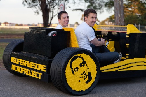 Driveable LEGO Hotrod Built from 500,000 Pieces and Runs Entirely on Air