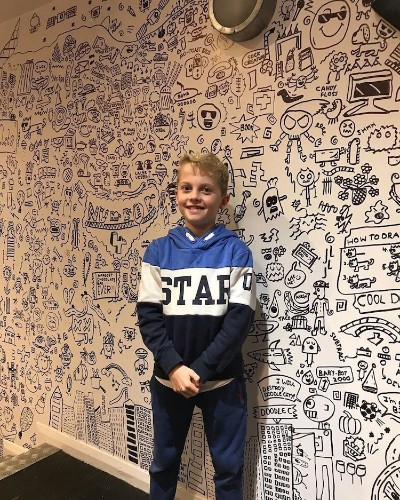 9-Year-Old in Trouble for Doodling Gets Job Doodling Restaurant's Walls