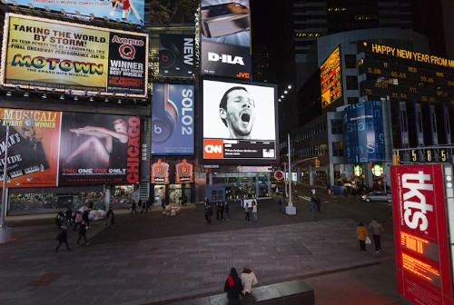 Artist Triggers Contagious Yawn in Times Square and Beyond
