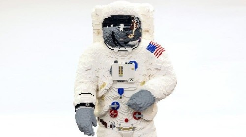 Life-Sized LEGO Astronaut Celebrates 50th Anniversary of Apollo 11