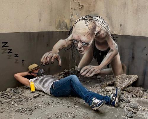 Street Artist Turns Rundown Walls Into Incredible 3D Graffiti Art