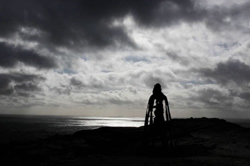8-Foot-Tall Bronze Sculpture of King Arthur Overlooks the Atlantic Ocean
