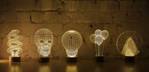 Optical Illusion 2D Lamp Looks Incredibly 3D