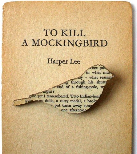 Text from Classic Books Recycled Into Charming Brooches