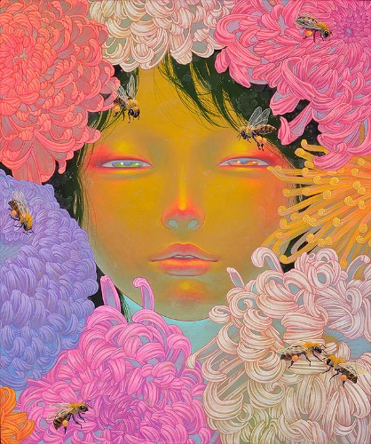 The Vibrant Flower Filled Paintings of Fuco Ueda