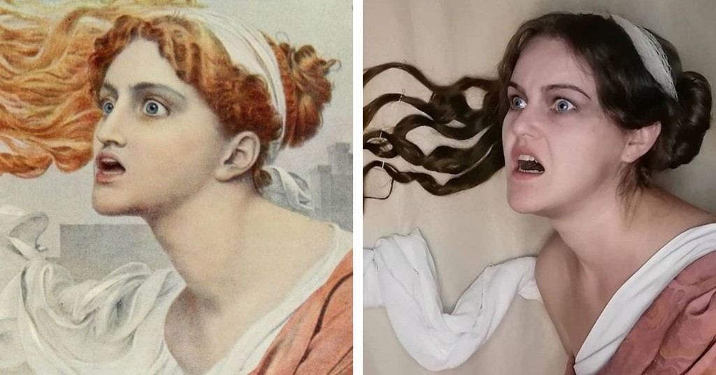 This Woman Is Doing a Daily 'Getty Museum Challenge' To Recreate Historical Paintings for a Year