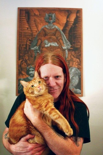 Endearing Photos of Heavy Metal Rockers Posing with Their Cats