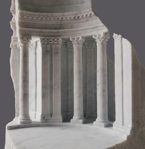 Amazing Architectural Interiors and Detailed Objects Carved into Raw Marble Blocks