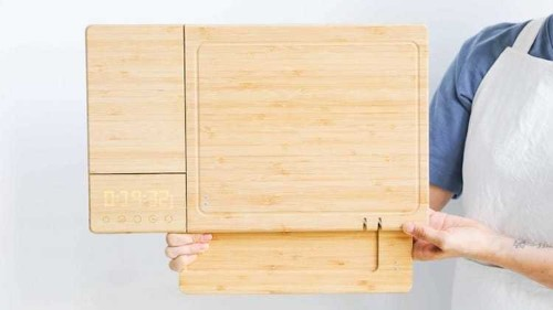 World's First Smart Cutting Board Features Five Kitchen Tools in One