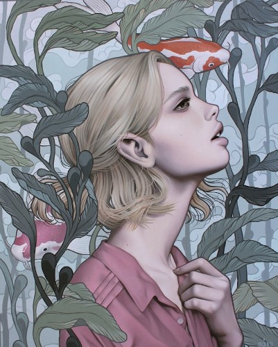 Surreal Paintings of Women Embodying the Emotions of Nature