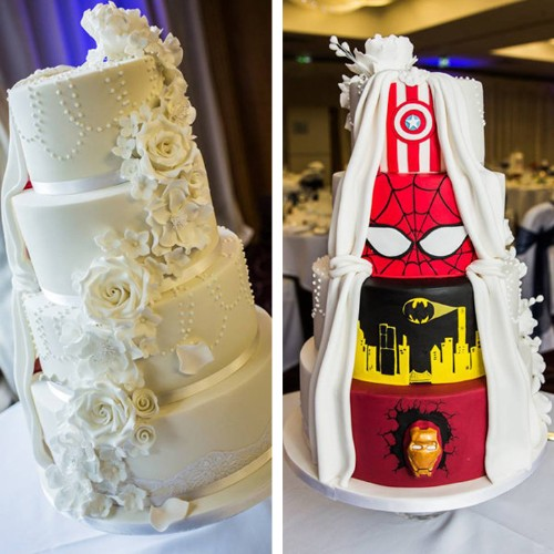 Bride and Groom Combine Two Visions into One Incredible Wedding Cake