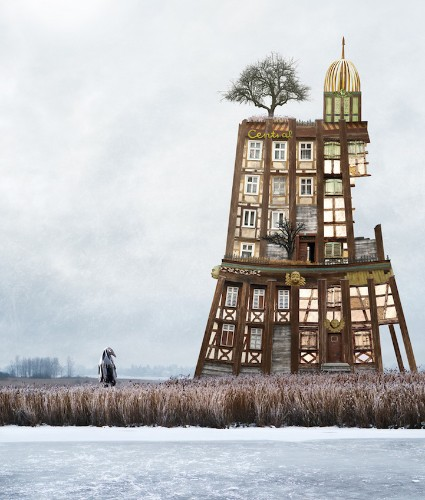 Whimsical Architectural Collages Imagine Fantastically Surreal Houses