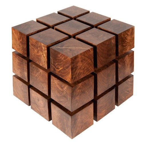 Rubik's Cube-Shaped Table Uses Strong Magnets to Look like It's Floating
