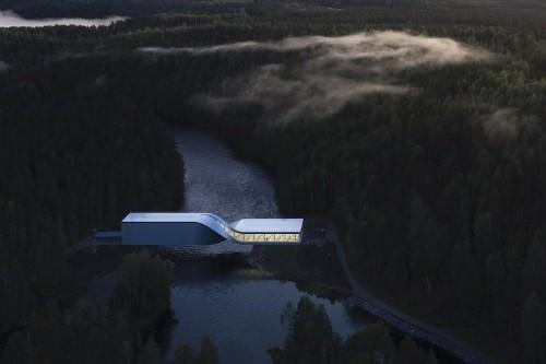 """Arquitectos diseñan un moderno puente """"torcido"""" que también funciona como museo"""