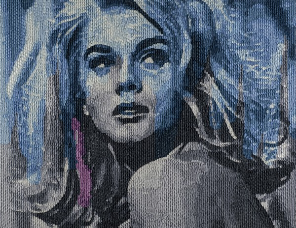 Elaborately Textured and Colored Oil Paintings of Old Films