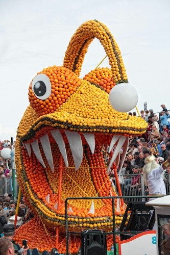 Citrus Sculpture Festival Inspired by 20,000 Leagues under the Sea