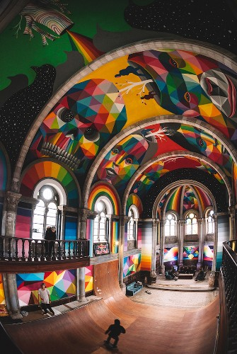 100-Year-Old Church Given New Life as Mesmerizing Skate Park with Vibrant Murals