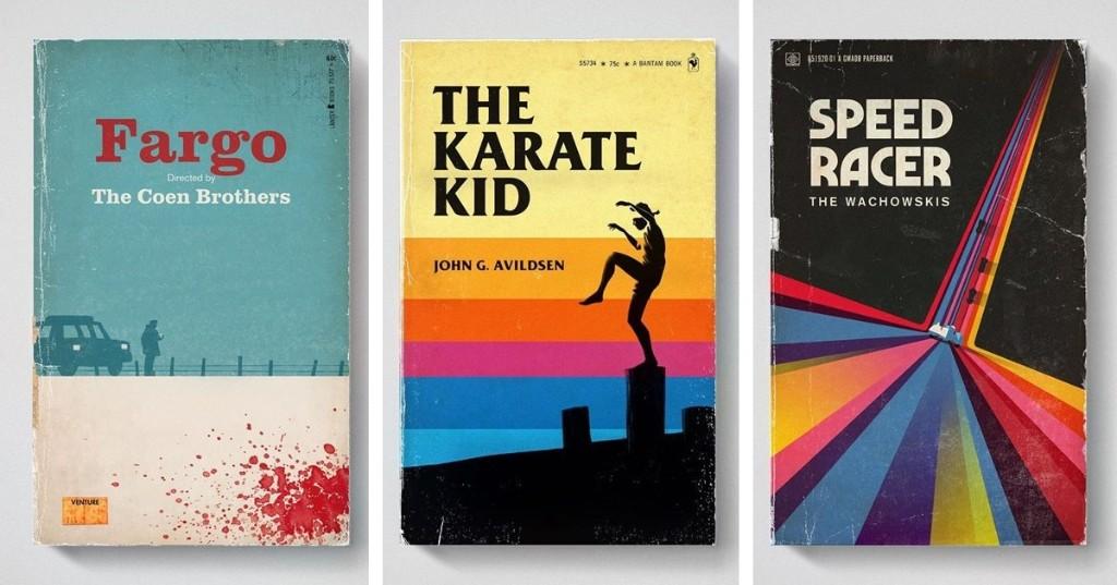 Illustrator Reimagines His Favorite Movies as Classic Paperback Books
